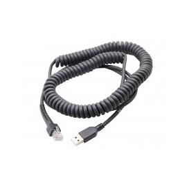 Cablu conexiune USB cititoare, terminale mobile Zebra spiralat 2.7m