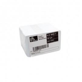 Card PVC Zebra Premier 30mil alb