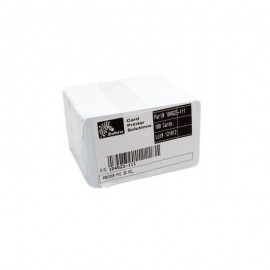 Set carduri PVC Zebra Premier 10mil albe 500 buc.
