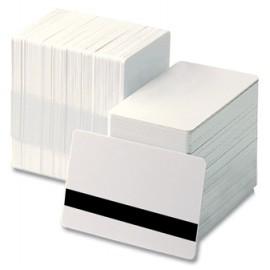 Set carduri PVC magnetice LoCo Zebra 30 mil albe 500 buc.