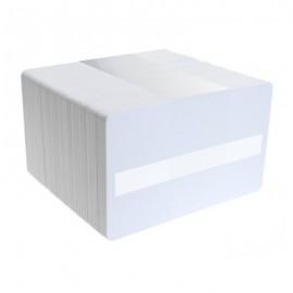 Set carduri PVC Zebra banda semnatura 30mil albe 500 buc.