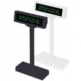 Afisaj pentru client Epson DM-D210BA RS-232 KIT cu stand alb (VFD)