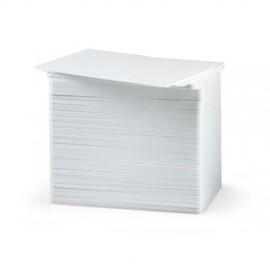 Set carduri PVC Evolis 30mil albe fara banda magnetica 500 buc.