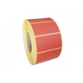Rola etichete hartie termica 100x56mm diam. 40mm 1000buc rosu-corai