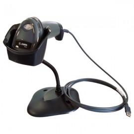 Cititor coduri de bare 2D Zebra DS2208 USB negru cu stand
