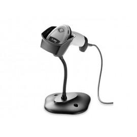 Cititor coduri de bare 2D Zebra DS2208 USB alb cu stand