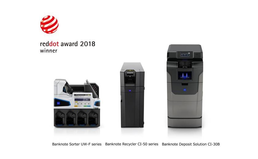 "Trei dintre produsele Glory Global Solution au primit premiul de design ""Red Dot Design Award 2018"""